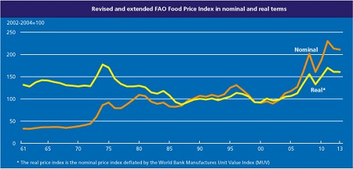 UN FAO Food Price Index 11-7-13